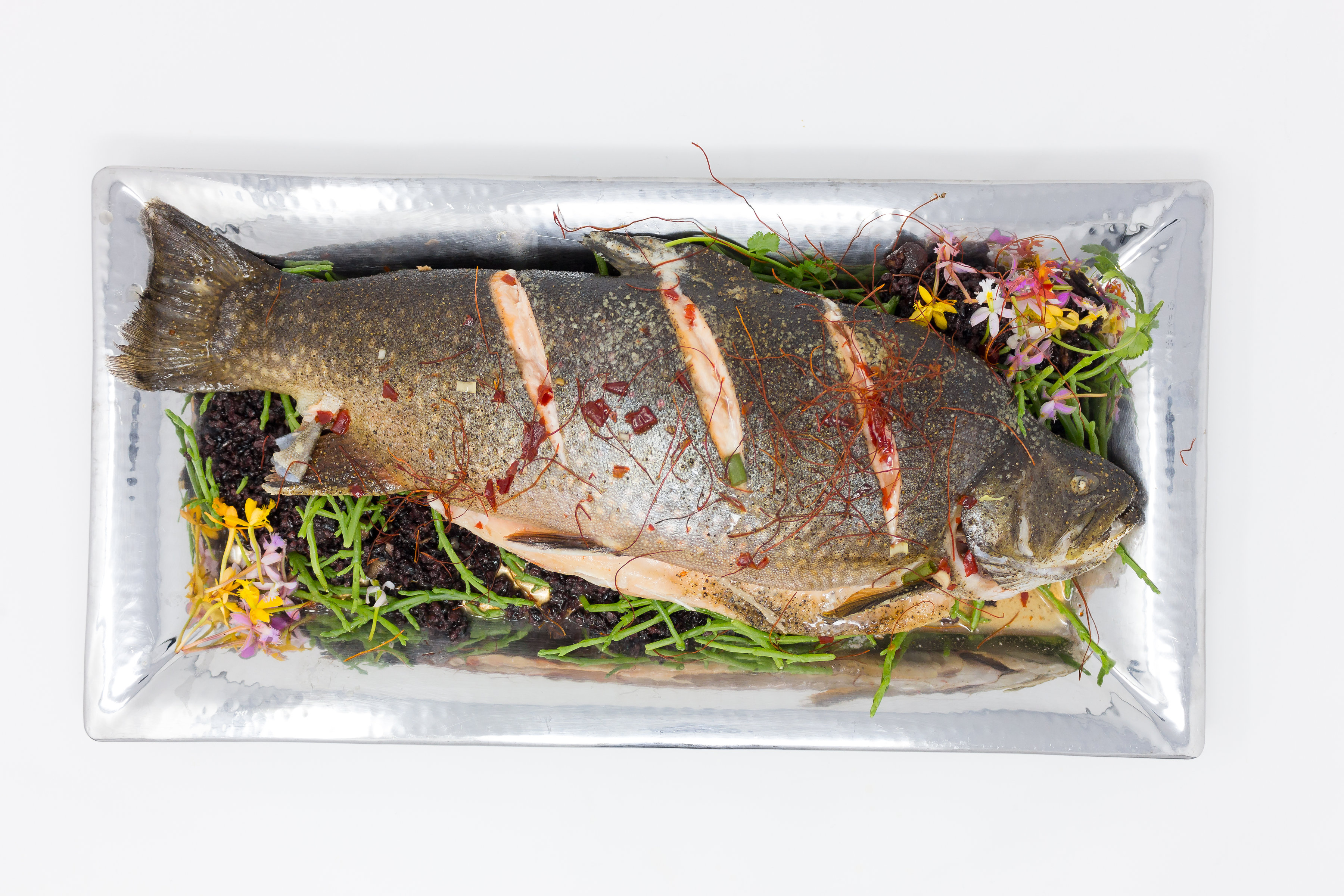 Whole Roasted Scarlet Snapper